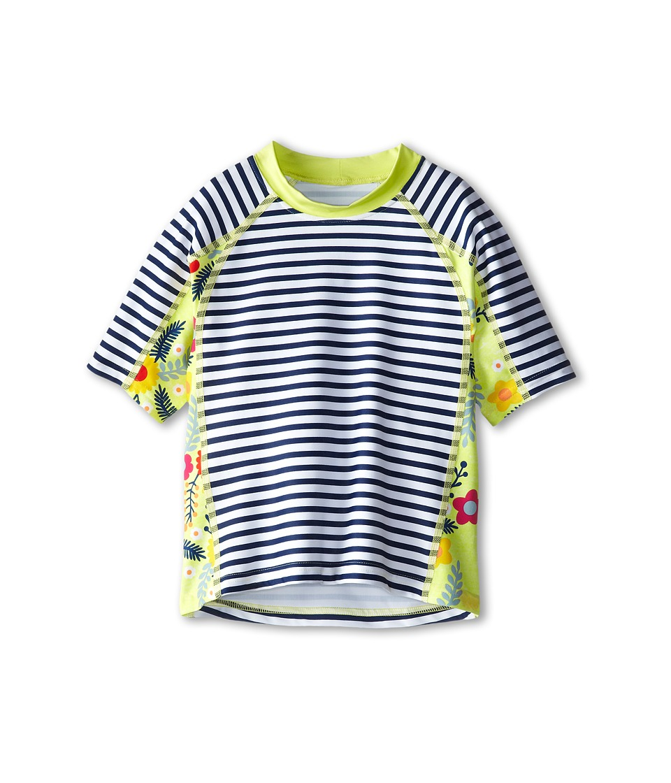 Patagonia Kids - Rashguard (Little Kids/Big Kids) (Nautical Stripe: Channel Blue) Girl's Swimwear