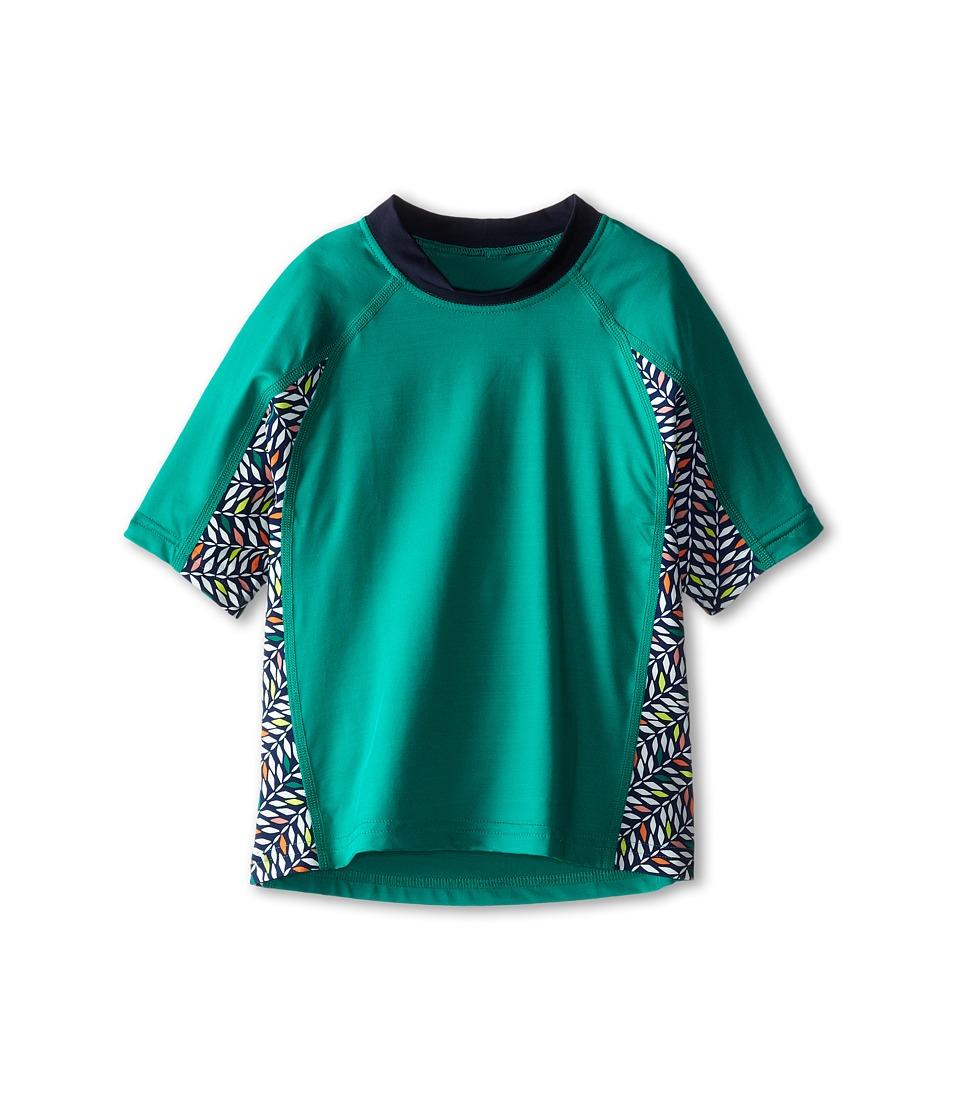 Patagonia Kids Rashguard (Little Kids/Big Kids) (Emerald) Girl