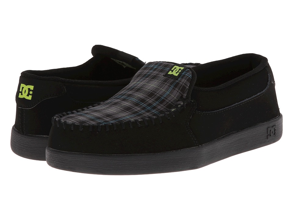 DC - Villain (Black/Turquoise/Soft Lime) Men's Skate Shoes