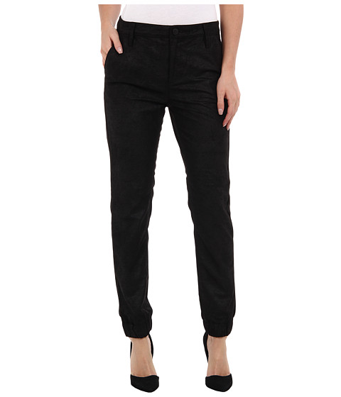 Blank NYC - Faux Suede/Leather Trouser Pant in Track Boiz (Track Boiz) Women
