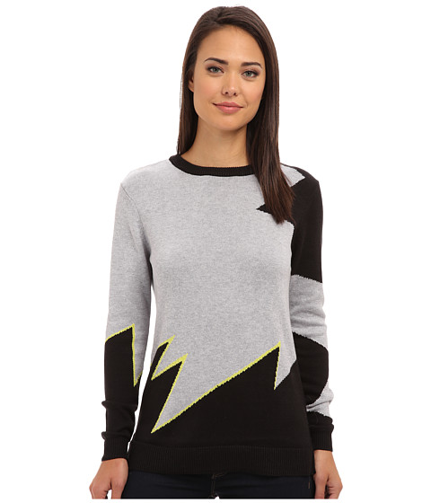 Blank NYC - Detailed Sweater (Grey Black Detail/Pocket Rocket) Women's Sweater
