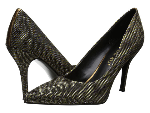 Nine West - Flax (Gold Multi Fabric 1) High Heels