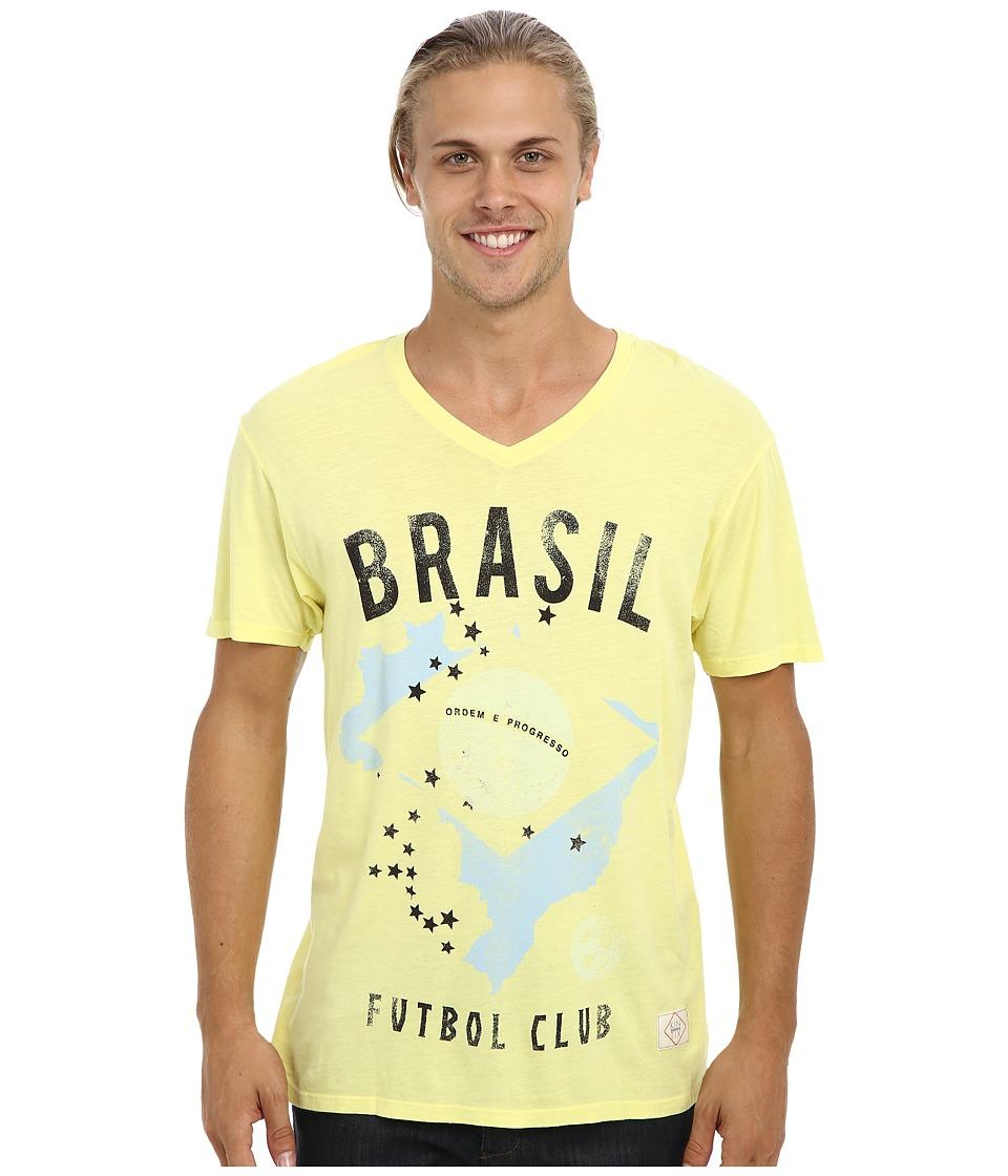 KINETIX - Brasil V-Neck T-Shirt (Yellow) Men