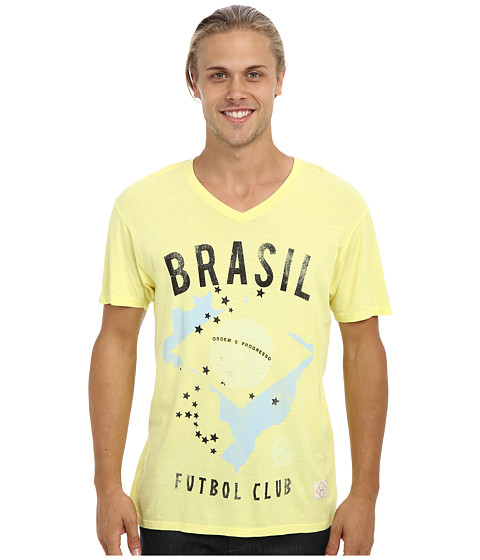 KINETIX - Brasil V-Neck T-Shirt (Yellow) Men