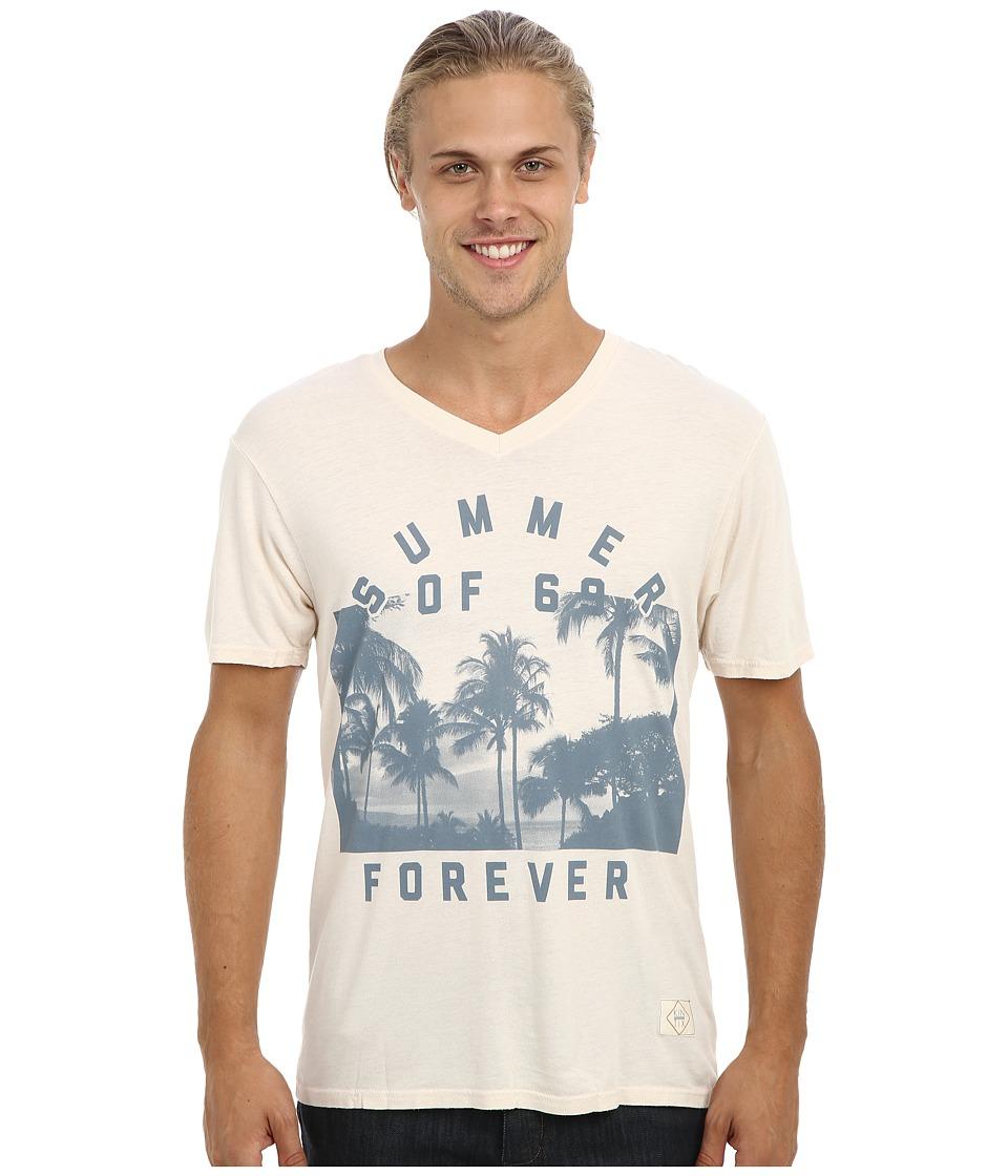 KINETIX - Summer Of 69 V-Neck T-Shirt (Tan) Men's Short Sleeve Pullover