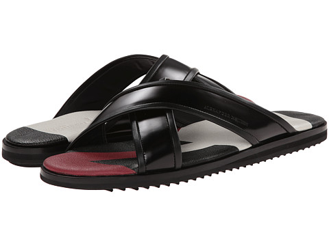 Alexander McQueen - Crossover Sandal (Black) Men's Sandals