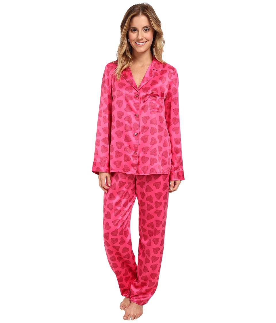 Betsey Johnson - Sexy Satin PJ (Heart Me Lipstick) Women's Pajama Sets