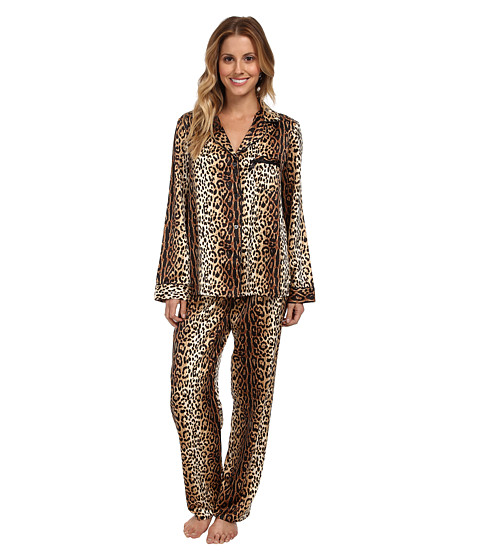 Betsey Johnson - Sexy Satin PJ (Wildest Dreams Natural) Women's Pajama Sets