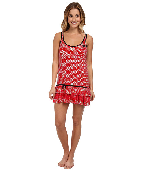 Betsey Johnson - Rayon Knit Slip (Flirty Dottie Ski Patrol) Women's Pajama
