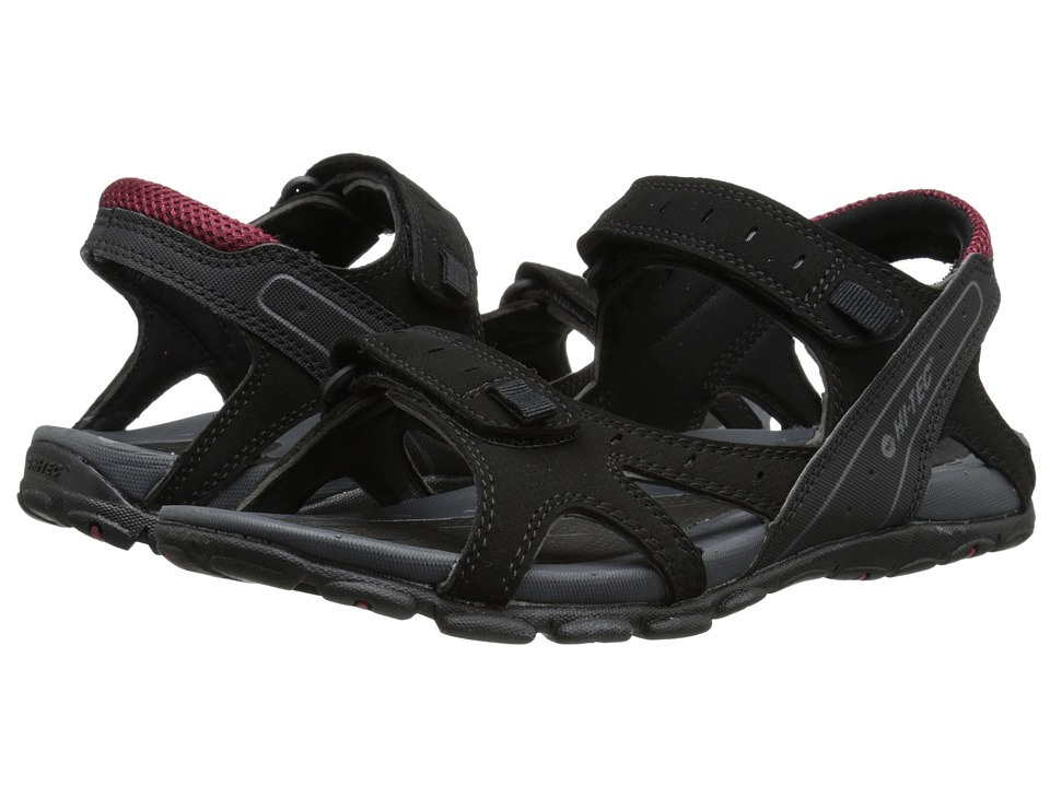 Hi-Tec Laguna Strap (Black/Charcoal/Port) Men