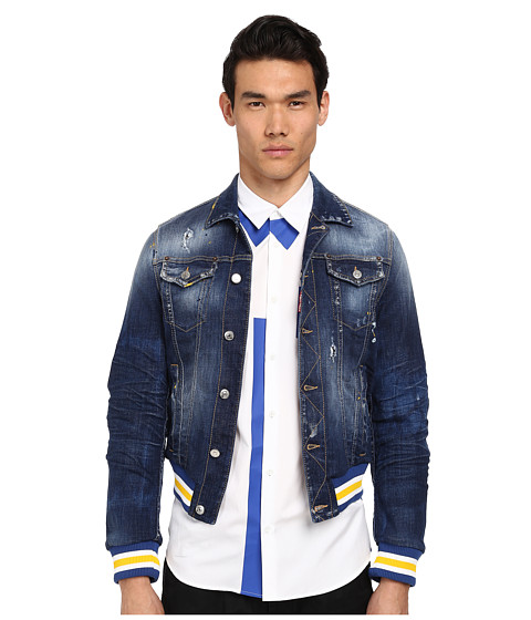DSQUARED2 - Baseball Jean Jacket (Blue) Men's Coat
