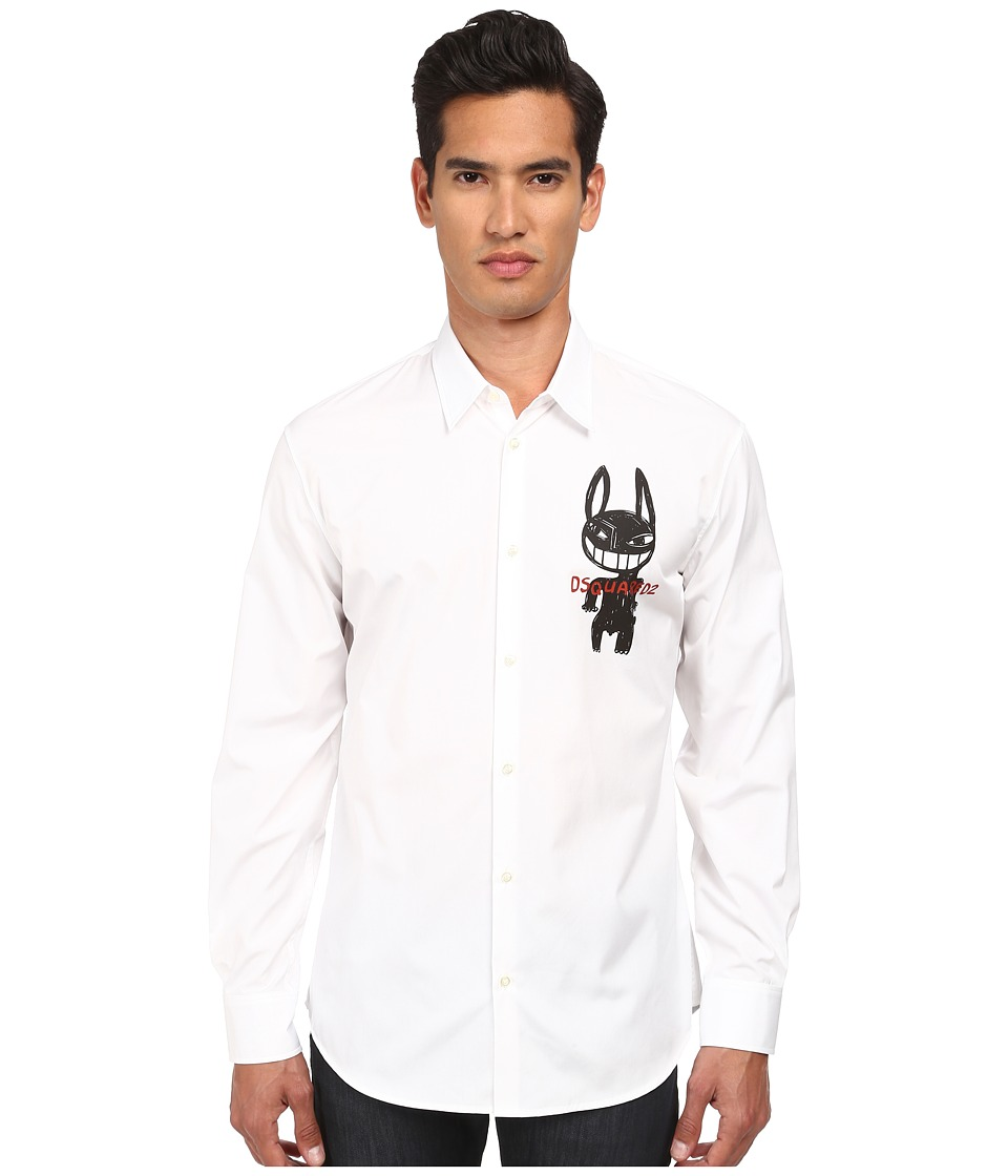 DSQUARED2 - Bad Rabbit Relaxed Dan Shirt (White) Men