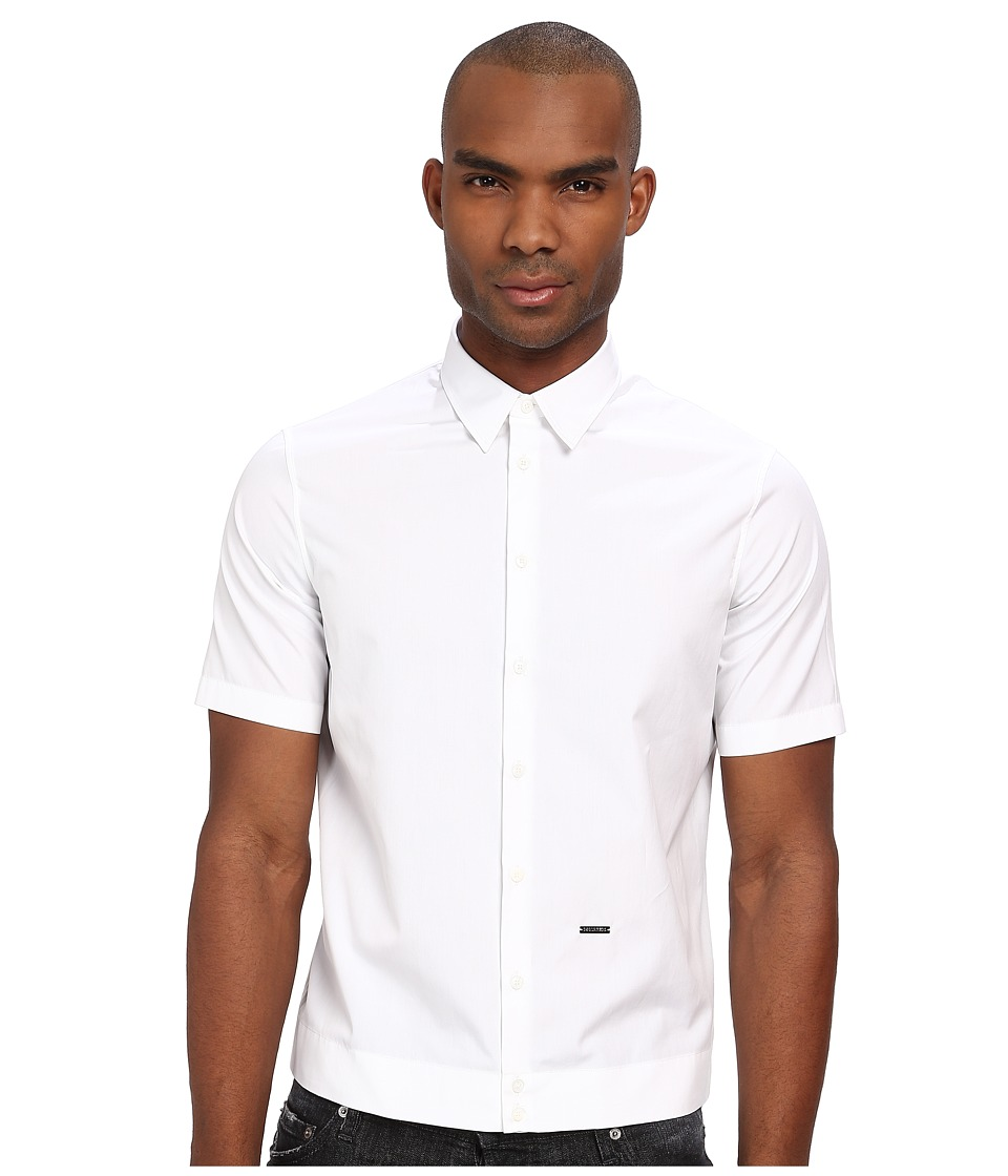 DSQUARED2 - Cotton Poplin Outside Shirt (White) Men