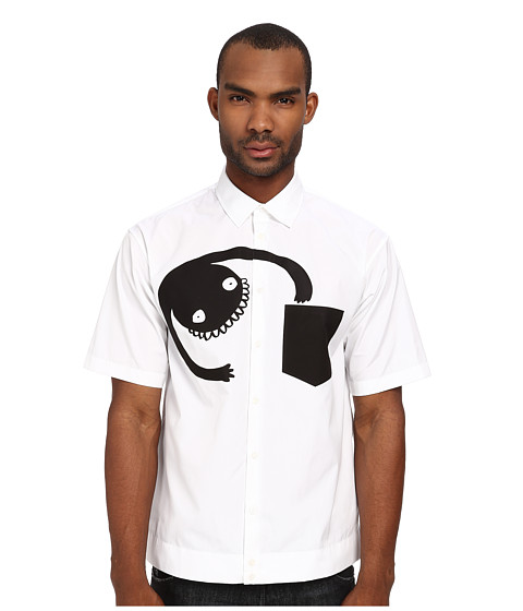 DSQUARED2 - Monster Summer Shirt (White) Men's Clothing
