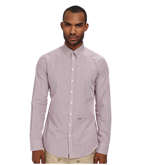 DSQUARED2 - Check Cotton Carpenter Shirt (White/Red/Blue) Men's Clothing