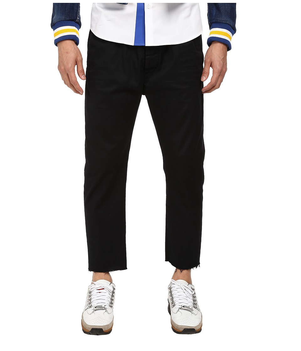 DSQUARED2 - Dan Elastic Waist Pant (Black) Men's Casual Pants