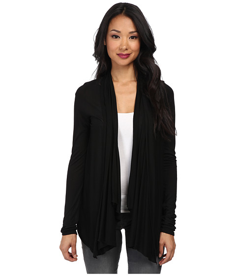 LAmade - Villa Drape Cardigan (Black) Women's Sweater