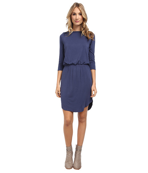 LAmade - 3/4 Sleeve Midi Dress (Bluejay) Women