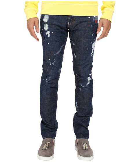 DSQUARED2 - Bleached Holes Wash Slim Jean (Blue) Men
