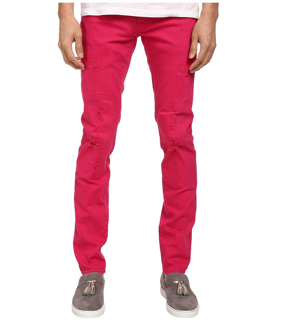 DSQUARED2 - Garment Dyed Slim Jean (Pink) Men's Jeans