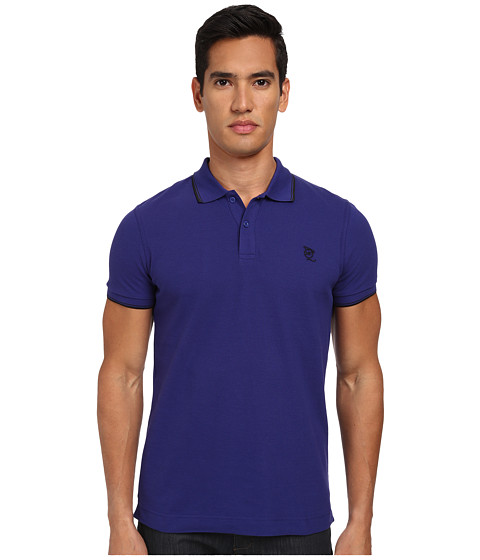 McQ - McQ Logo Polo (Indigo) Men