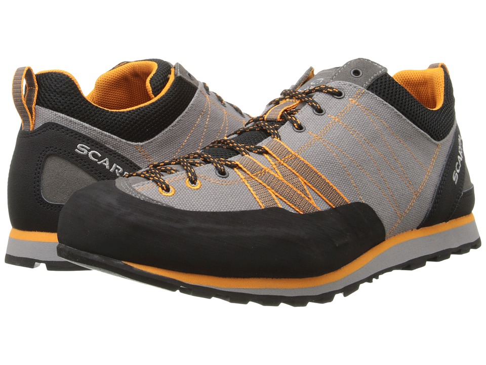 Scarpa - Crux Canvas (Grey/Orange) Men's Shoes