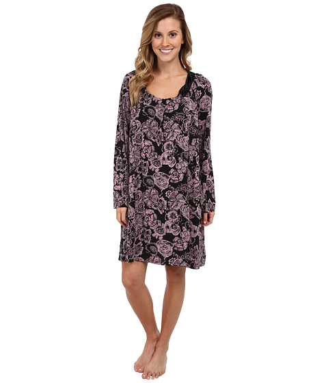 Midnight by Carole Hochman - Classic Moments Sleepshirt (Imprinted Emblems) Women