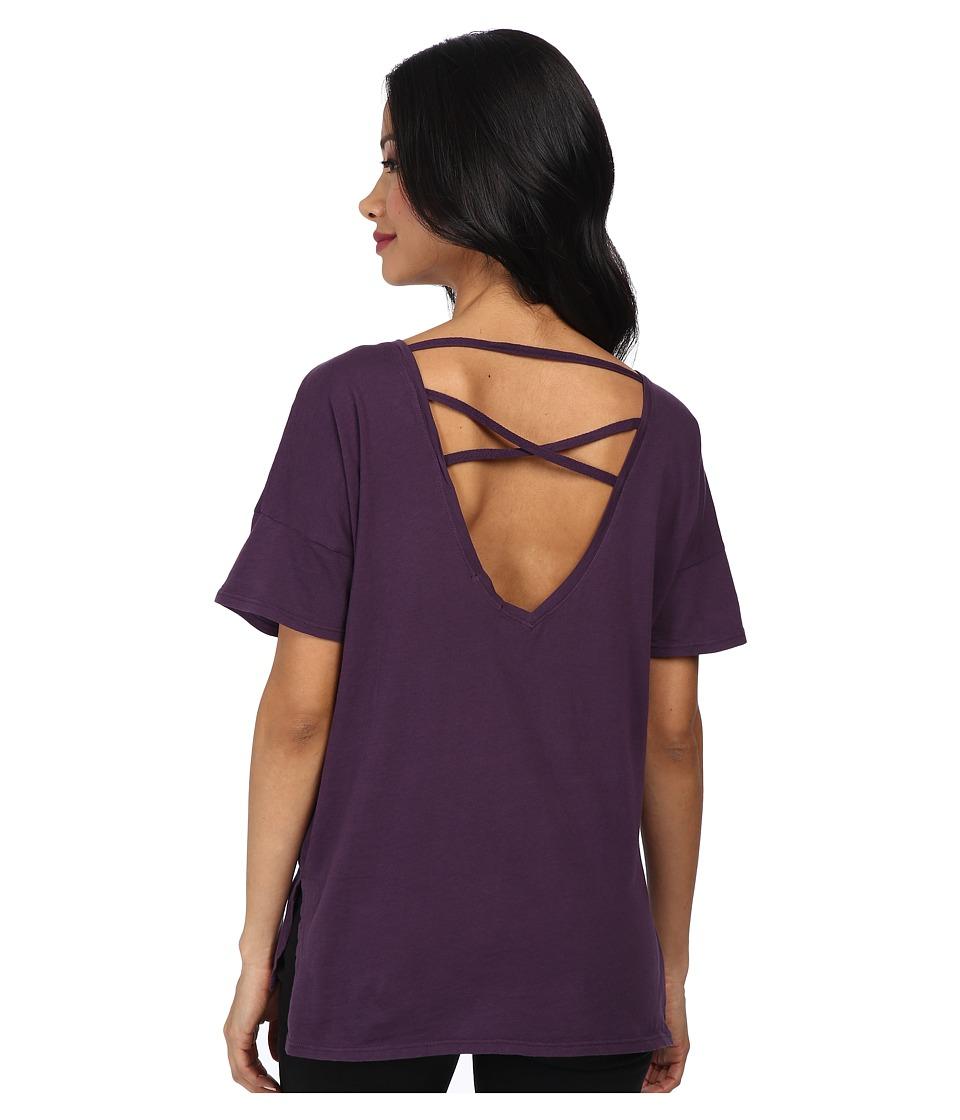 LAmade - X Back Tee (Morado) Women's T Shirt