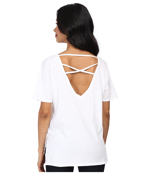 LAmade - X Back Tee (White) Women's T Shirt