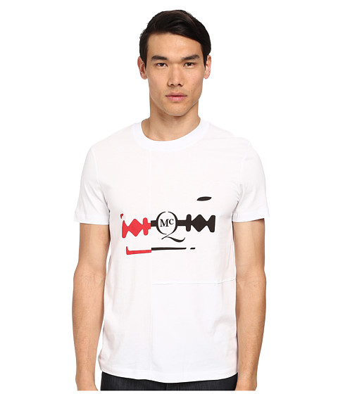 McQ - Razor Logo Tee (Optic White) Men's Short Sleeve Pullover