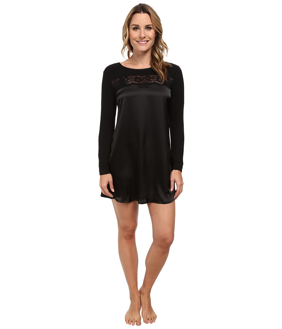 Midnight by Carole Hochman - Beautiful Nights Sleepshirt (Black) Women's Pajama