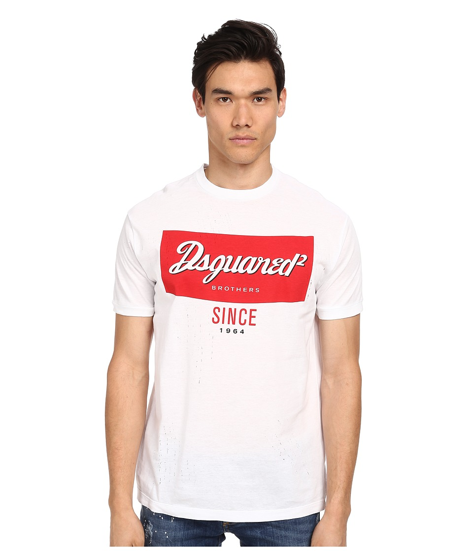 DSQUARED2 - New Chic Dan Fit Campbell's Tee (White) Men's T Shirt