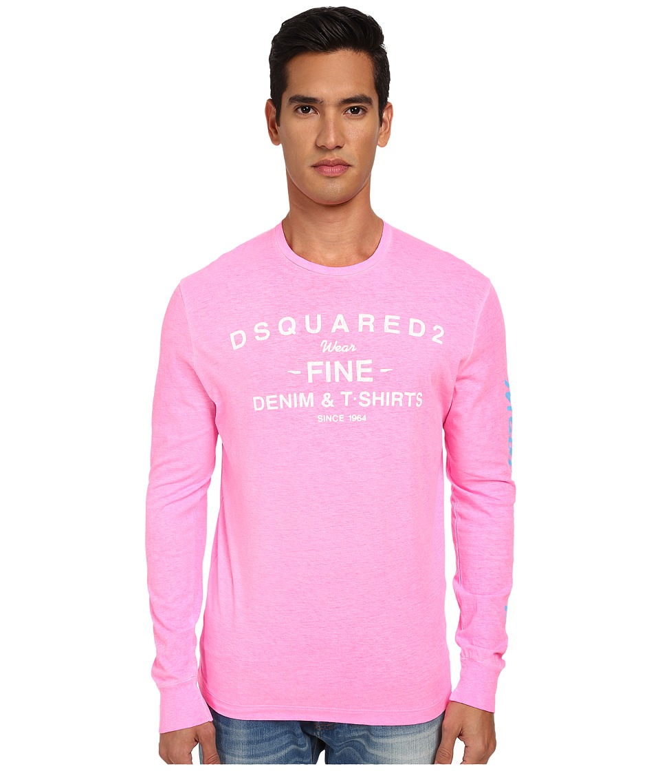 DSQUARED2 - L/S New Surf Fit Tee (Pink) Men