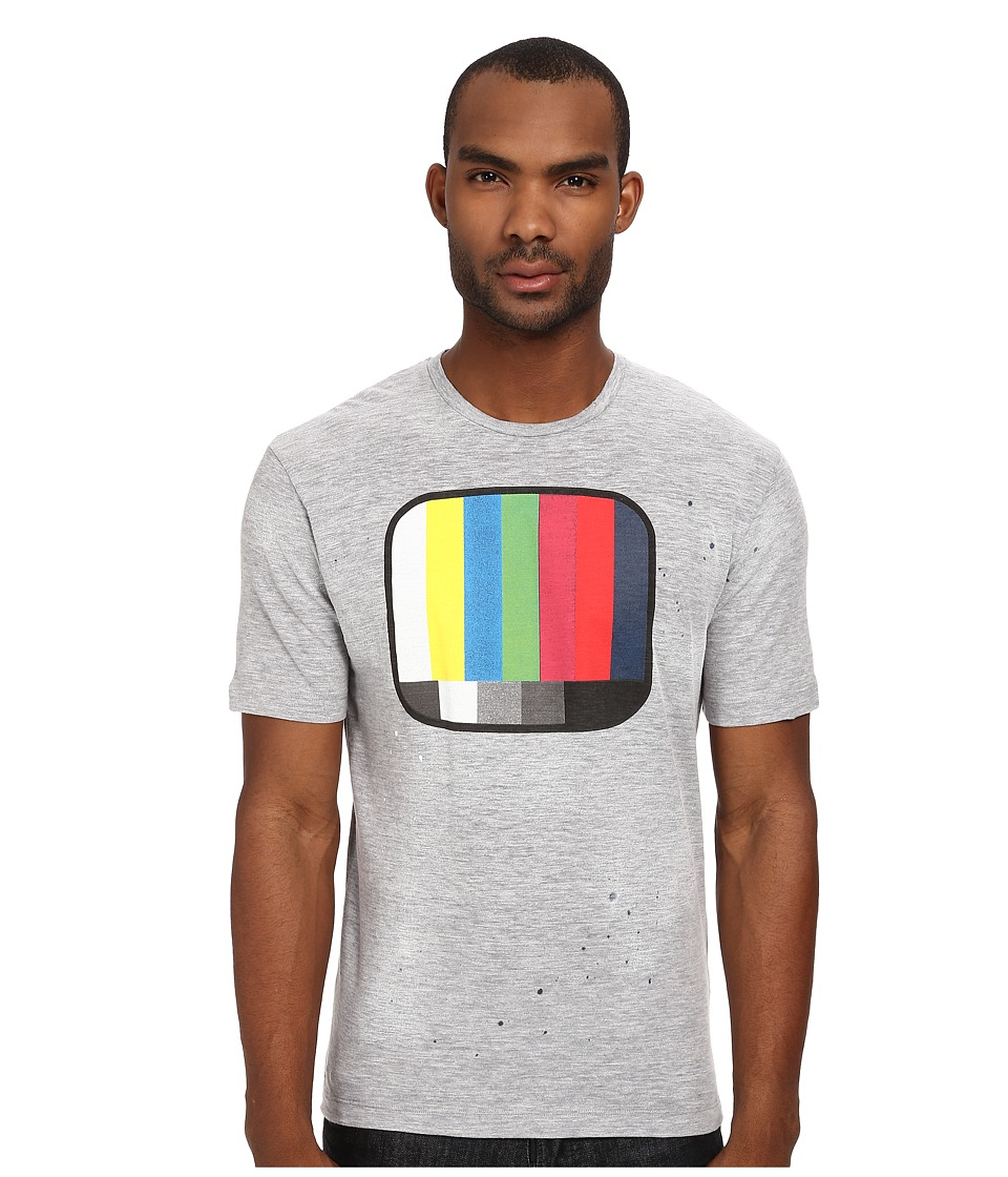 DSQUARED2 New Dan Fit TV Tee (Grey Melange) Men
