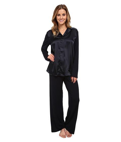 Midnight by Carole Hochman - Silky Slumber Pajama (Midnight) Women's Pajama Sets