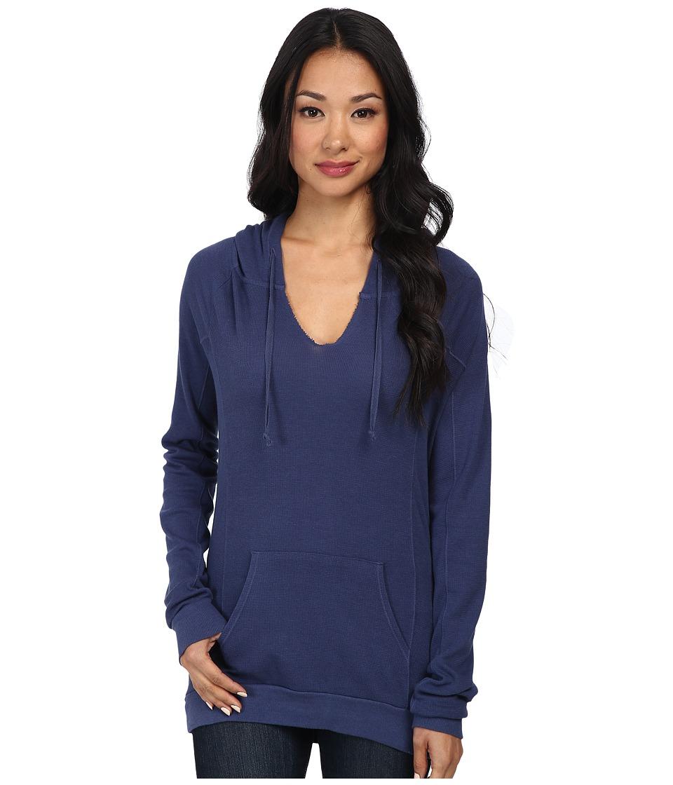 LAmade - Thermal Hoodie Pullover (Bluejay) Women's Sweatshirt