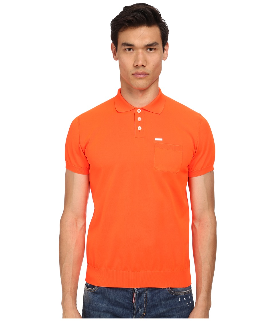 DSQUARED2 - Polo Sweater (Orange) Men's Sweater