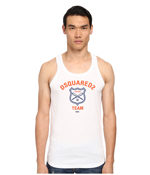 DSQUARED2 - Fruit of D2 Tank Top (White) Men