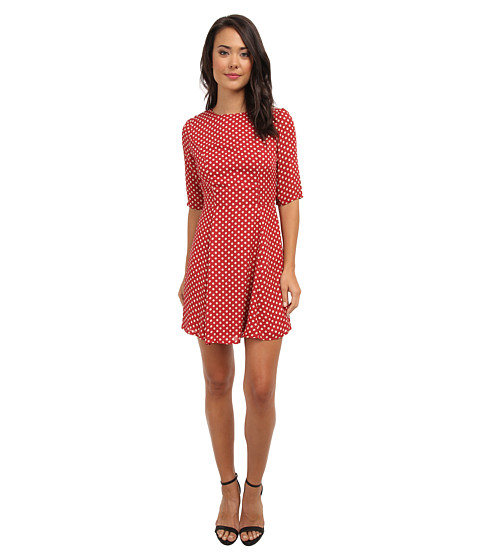 Brigitte Bailey - Evette Fit and Flare Dress (Red/Ivory) Women's Dress