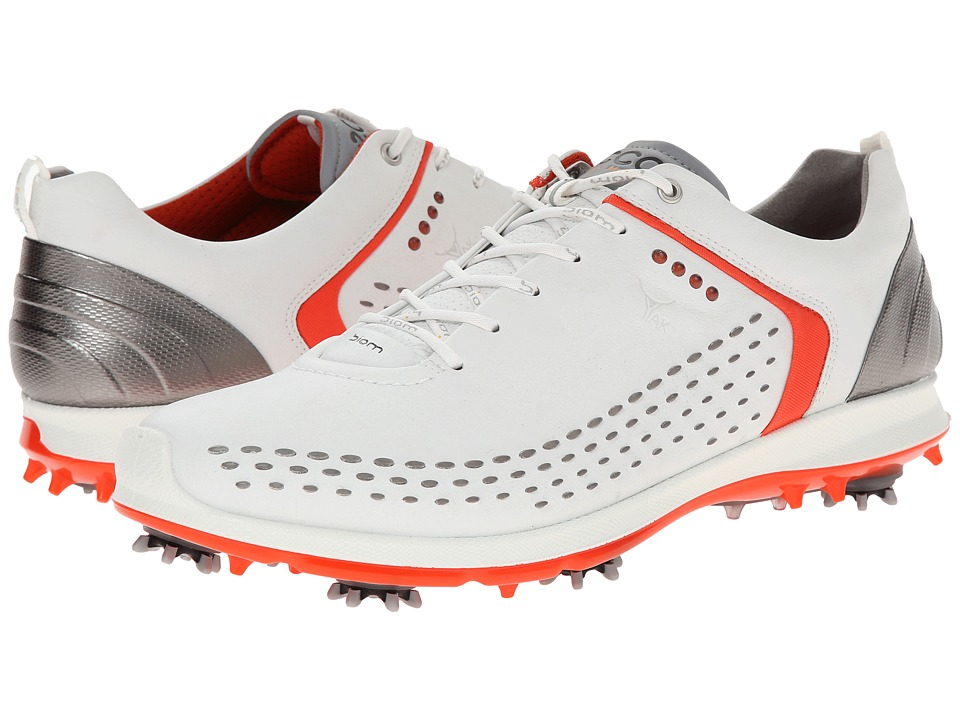 ECCO Golf - BIOM G 2 (White/Fire) Men's Golf Shoes