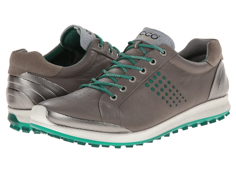 ECCO Golf - BIOM Hybrid 2 (Warm Grey/Green) Men's Golf Shoes