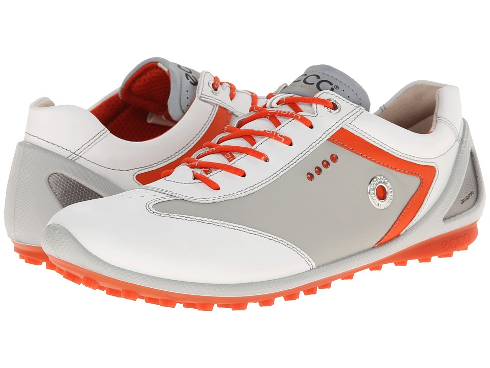 ECCO Golf - BIOM Zero Plus (White/Concrete/Fire) Men's Golf Shoes