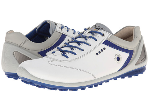 ECCO Golf - BIOM Zero Plus (White/Royal) Men's Golf Shoes