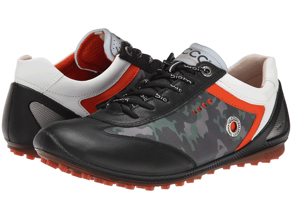 ECCO Golf - BIOM Zero Plus (Black/Wild Dove/Fire) Men's Golf Shoes