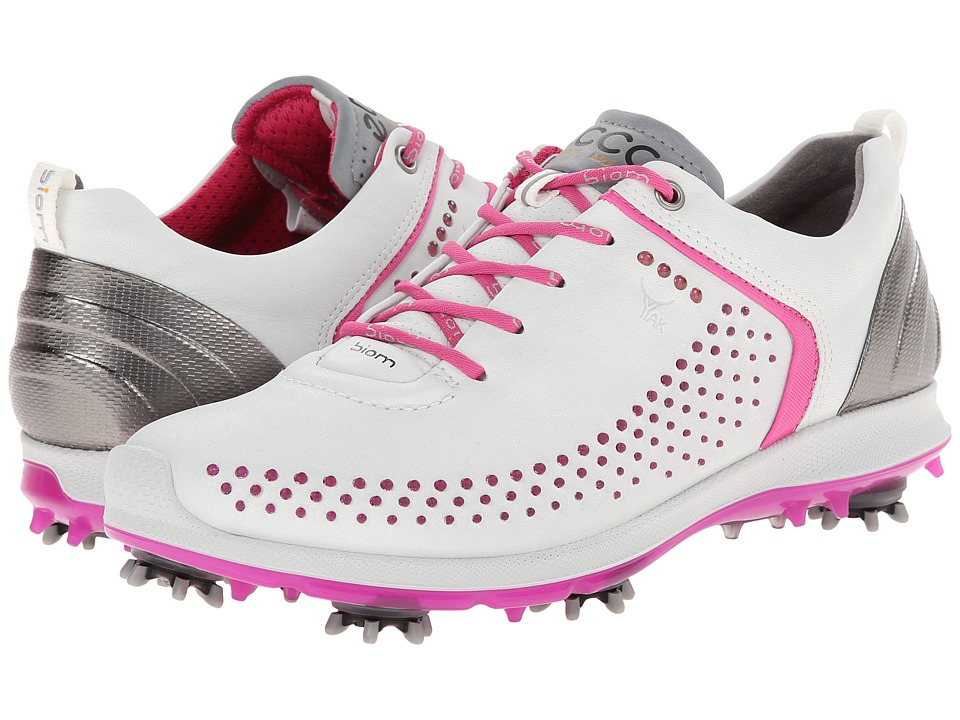 ECCO Golf - BIOM G 2 (White/Candy) Women's Golf Shoes