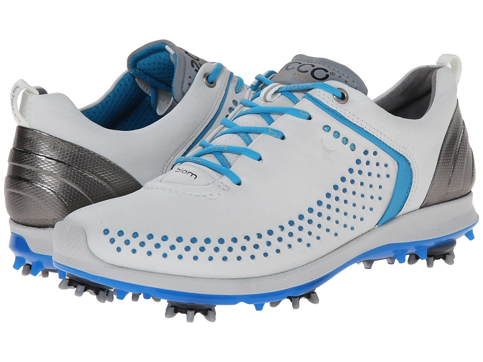 ECCO Golf - BIOM G 2 (White/Danube) Women's Golf Shoes