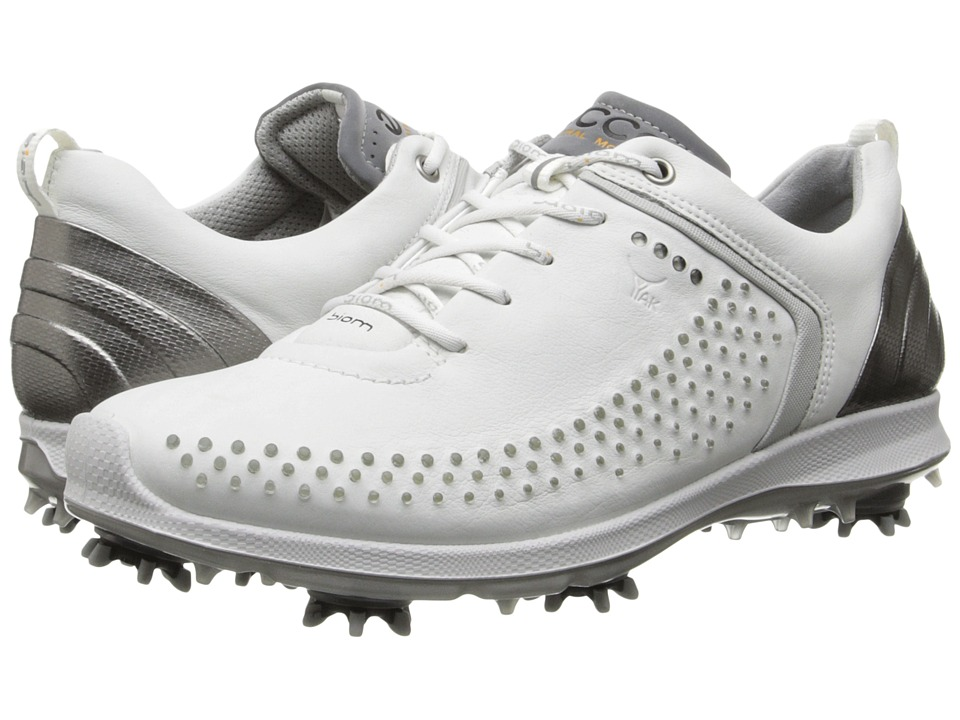 ECCO Golf - BIOM G 2 (White/Buffed Silver) Women's Golf Shoes