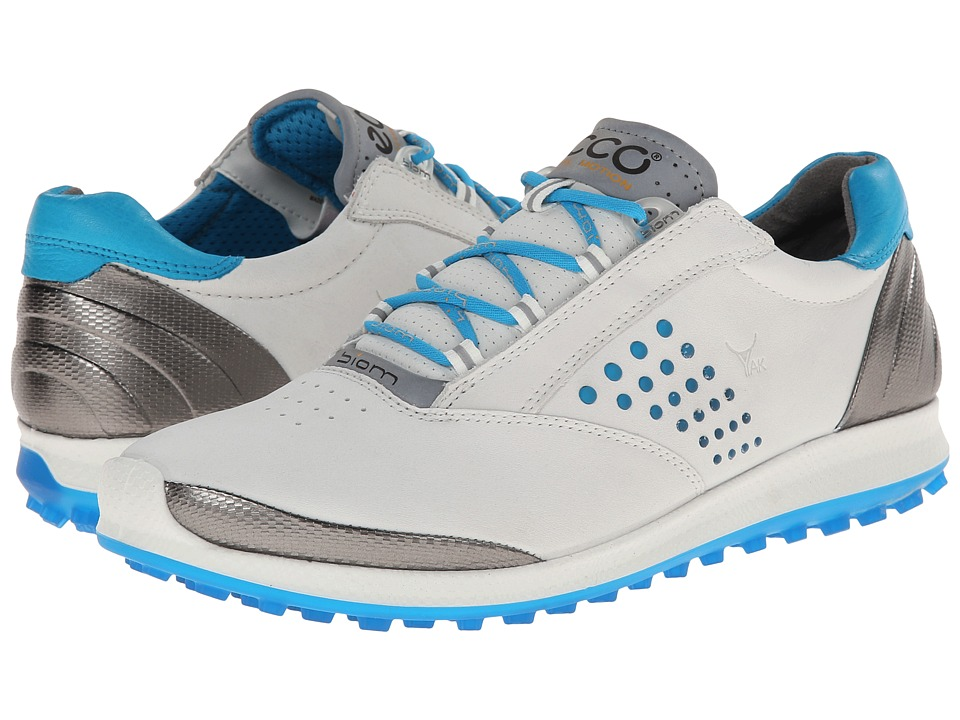 ECCO Golf - BIOM Hybrid 2 (White/Danube) Women's Golf Shoes