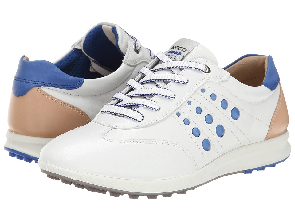 ECCO Golf - Street EVO One Sport (White/Mazarine Blue) Women