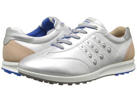 ECCO Golf - Street EVO One Sport (White/Buffed Silver) Women